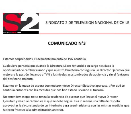 Comunicado N°3